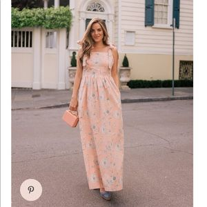 NWT Anthropologie Makenna floral maxi dress